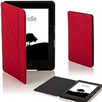 Forefront Cases® Amazon Kindle Voyage Origami Funda Carcasa Stand Smart Case Cover Protectora Plegable – Función automática inteligente de Suspensión/Encendido