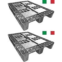Cenni 12002Juego 2bancali Pallet de plástico 1200X 800con 3Traverse, Made in Italy