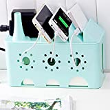 Saiyam Wire Box - Cable Management Box Desk Table Power Plug Socket Wire hiding organizer Anti-Dust Tidy Storage Organizer Phone Sundries Holder Case Box for Home Office