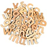 Creation Station CS3745 Wooden Lower Case Letters, Natural Wood