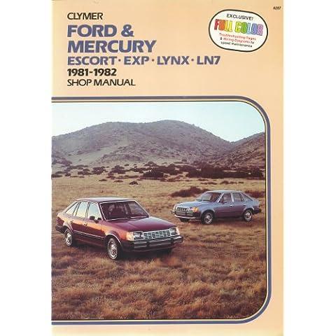 Ford & Mercury Escort-Exp-Lynx-Ln7: 1981-1989 Shop Manual/A287