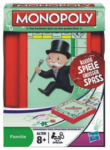 Hasbro 29188100 - Monopoly Kompakt - - Unterwegs Monopoly Für