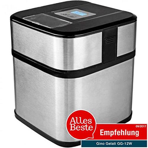 Gino Gelati GG-12W Digitale Edelstahl Eismaschine Frozen Yogurt Maschine