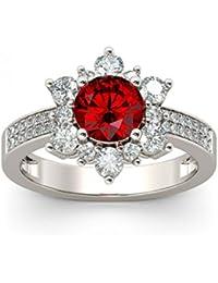 Naitik Jewels 925 Sterling Silver Unique Design Solitaire Engagement Ring For Women