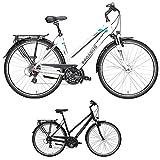 Pegasus Solero SL 24 Gang Shimano Trapez Damenfahrrad Trekking Fahrrad 2018, Rahmenhöhe:50 cm, Farbe:weiß