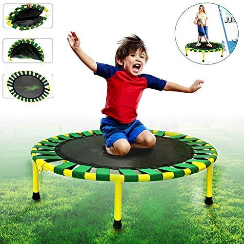 LYXCM Trampolin Kinder, Kindertrampolin Garten Trampolin Indoor/Outdoor Zusammenklappbar Minitrampolin Erwachsene Bestes Fitnessstudio Für Zu Hause