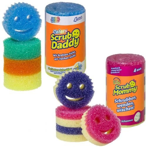 Scrub Daddy Colors & Scrub Mommy Set - spezieller Reinigungsschwamm