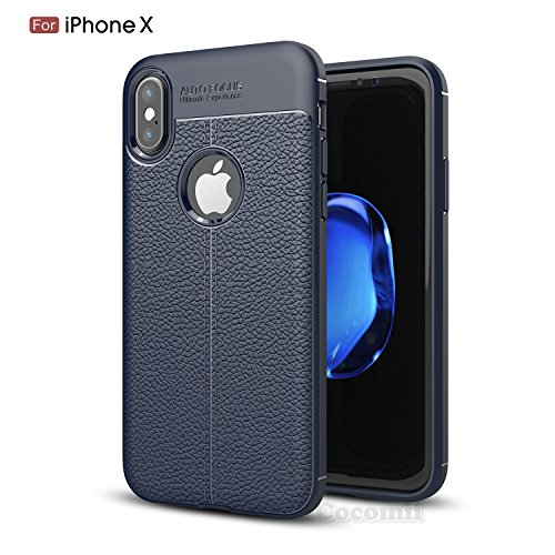 iPhone X Funda, Cocomii Ultimate Armor NEW [Heavy Duty] Premium Leather Pattern...