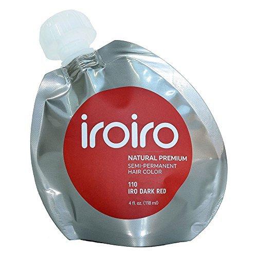Iroiro Premium Natural Semi-permanenten Haar Farbe 110Iro-Dark Rot 4Oz (Haar-color-chart)