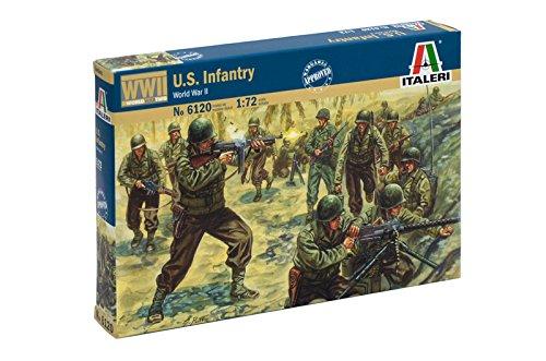 Italeri 6120 - wwii american infantry modellismo soldatini scala 1:72