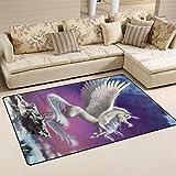 JSTEL ingbags Super Weich Moderner Einhorn, ein Wohnzimmer Teppiche Teppich Schlafzimmer Teppich für Kinder Play massiv Home Decorator Boden Teppich und Teppiche 78,7x 50,8cm