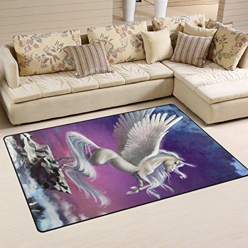 ingbags Super Weich Moderner Einhorn, ein Wohnzimmer Teppiche Teppich Schlafzimmer Teppich für Kinder Play massiv Home Decorator Boden Teppich und Teppiche 78,7x 50,8cm