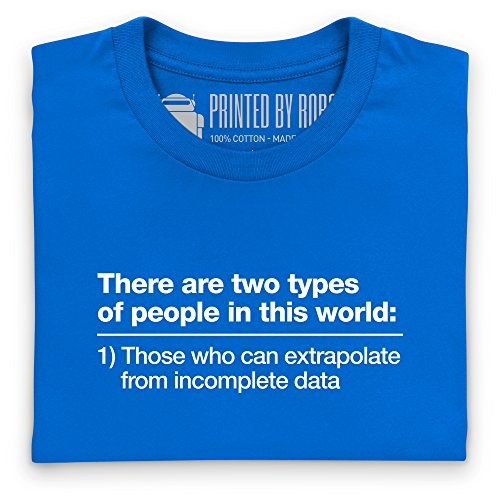 Incomplete Data T-Shirt, Damen Royalblau