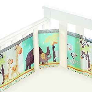 BreathableBaby 4 Sided Cot Mesh Liner in Animal 2 by 2