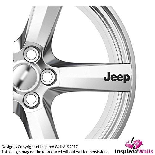 Preisvergleich Produktbild 6x Jeep Alloy Wheels Abziehbilds Aufklebers Adhesives Premium Quality Grafik by Inspired Walls®