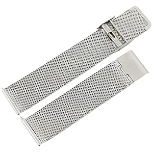 [Change Belt for Watch] Stainless Steel Unisex mesh Strap 20mm