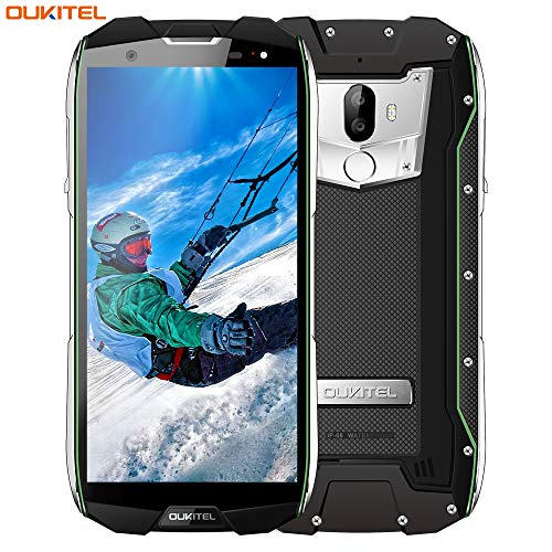 Outdoor Smartphone, OUKITEL WP5000 Dual SIM Handy 6GB RAM 64GB ROM 5.7 Zoll Display Wasserdichtes Stoßfest Staubdicht Smartphone Octa Core 16MP+5MP/8MP 5200mAh Großer Akku-Grün