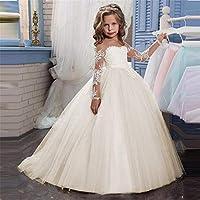 Vestido de niña princesa Apliques de encaje Niños bordados Princesa Dama de  honor de la boda 00dfb6f9dde