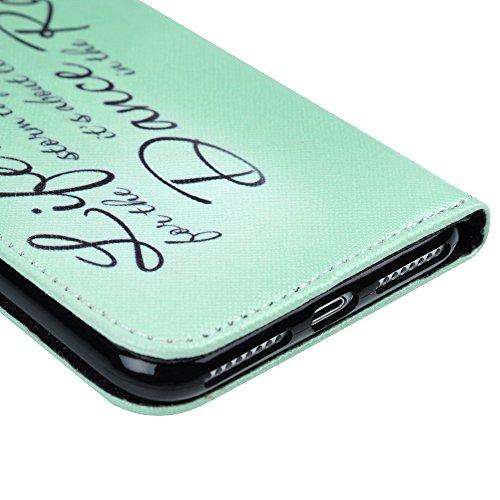 "iPhone 7 Plus Hülle Case YOKIRIN Premium Kunster Gemalt PU Leder Innere TPU Handyhülle Hardcase Bookcover Tasche Lederhülle Flipcase Handy Schutzhülle Ledercase für iPhone 7 Plus (5.5"") Muster:Englisc Englisch"