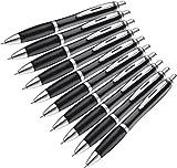 p&m 10 Stck Kugelschreiber in trendigen Farben (schwarz)