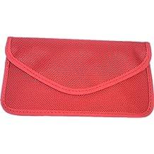 Fashmond- Grand étui housse sac portefeuille de signal blocage isolation anti-radiation de téléphone portable pour les femmes enceinte couleur rouge