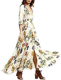 Amlaiworld Vestido largo Mujer Boho vestido de noche Maxi playa Sundress