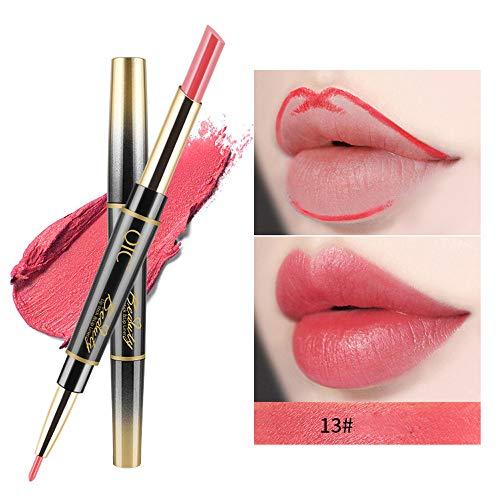 Aktionspreis,Lippenstift,PorLous Neu Beliebt Schönheit Dauerhafter Lipliner-Lip-Liner-Stift Mit Doppeltem Ende Feuchtigkeitsspendend 13