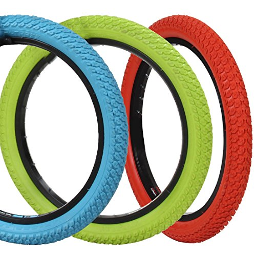 18 Zoll DSI BMX Reifen 18x1,75 grün, blau oder rot, Farbe:blau