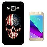 003428 - USA flag on skull Design Samsung Galaxy Grand