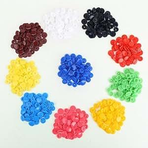 150 Set T5 SNAPS 10 Farben Druckknöpfe Druckknopf für Zange Scrapbooking Basteln DIY nähfrei