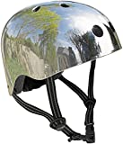 Micro Safety Helmet: Mirrored Silver (Medium) 53-58cm