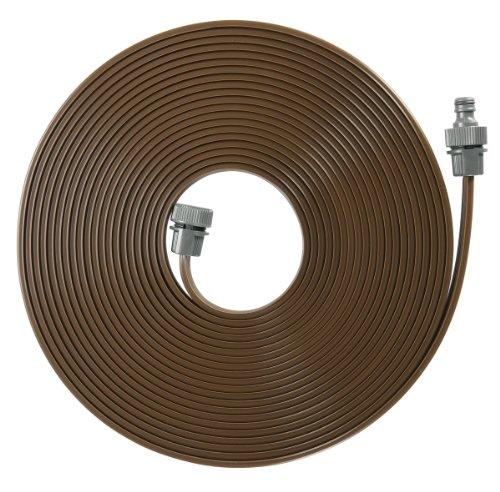 GARDENA Schlauch-Regner: Feiner Sprühregner für die Bewässerung länglicher, schmaler Zonen, Länge 15 m, anschlussfertig ausgestattet, braun, individuell verkürz- oder verlängerbar (1999-20)