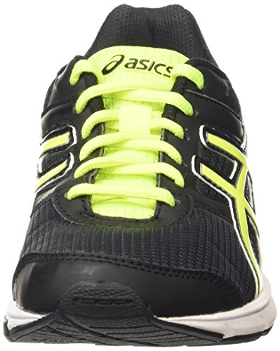 Asics Gel-Galaxy 8 Gs, Chaussures de Running Compétition Mixte Enfant Noir (Black/Flash Yellow/White 9007)
