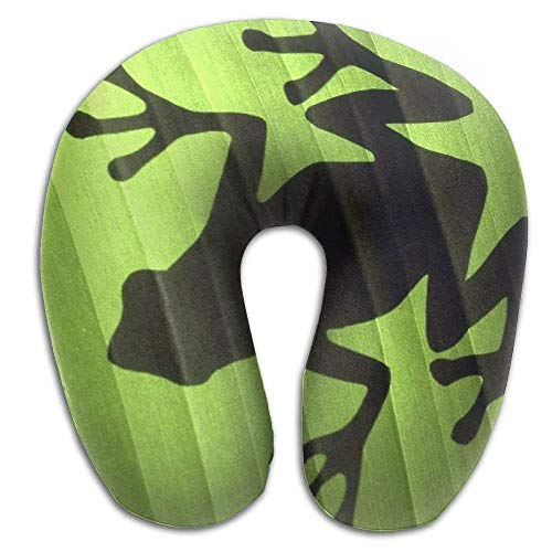 Hanbaozhou cuscini memory foam neck pillow cushion frog painting comfy soft u-shape cervical pillow head support for travel office home sleeping