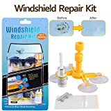 Randalfy Do-It-Yourself Auto Windshield Repair Kit - Windshield Repair Kit for Car Windscreen/Glass Rock Chip, Bulls Eye, Star, Half Moon Repair