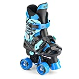 Osprey Children's Electric Blue Quad Skates, Kids Adjustable Roller Skates, 3-5
