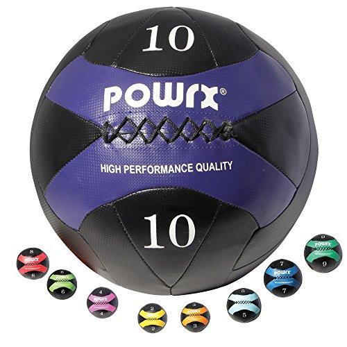 POWRX - Pelota Wall I 2 - 10 kg I Balón Medicinal