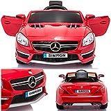 SIMRON - Mercedes-Benz SL-63 AMG Cabriolet Ride-On 12V Elektro Kinderauto Kinderfahrzeug Kinder Elektroauto