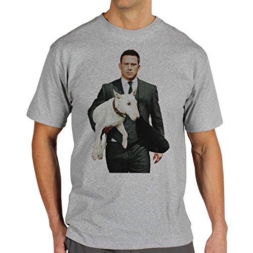 Magic-Mike-XXL-With-His-Dog-Layer-0.jpg Herren T-Shirt Grau