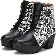 Commander: Latest Collection of Floral Pattern High Ankle Boots for Women & G