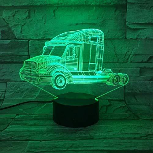3D-Led-Leuchten, Neben Der Basis, Ändern Die Dekoration, Blinkendes Nachtlicht, Netzteil Desktoptable Lampdimmable Nachtlicht Heavy Duty Truckcolors Change -