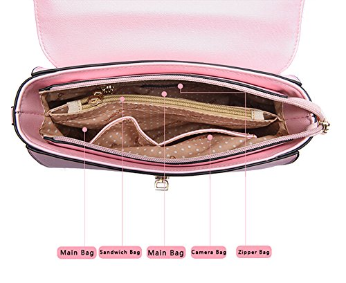FAIRYSAN, Borsa a tracolla donna Rosa rosa small rosa