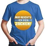 HARIZ  Jungen T-Shirt Mir Reichts Ich GEH Zocken Gamer Gaming Sprüche Zocken PC Level Plus Geschenkkarten Royal Blau 98/2-3 Jahre