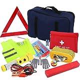 Discoball® Kit di di emergenza per la sicurezza della guida auto, attrezzi di base per riparazione veicolo, omologato EU
