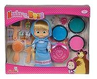 Colora i capelli della tua bambolina Masha da 12 cm., hai tre possibilità di colori, verde, rosa, azzurro, inclusi nella confezione anche altri accessori per i capelli della bambola, spazzola, pettine, specchio, fermagli.