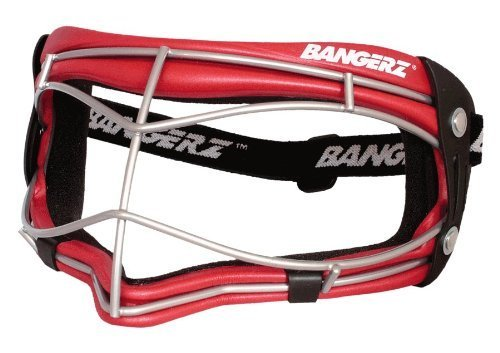 Bangerz HS-6500RS Softball-Baseball-Womens Youth Lacrosse Wire Fielders Mask - Crimson Red Foam-Silver Wire Test