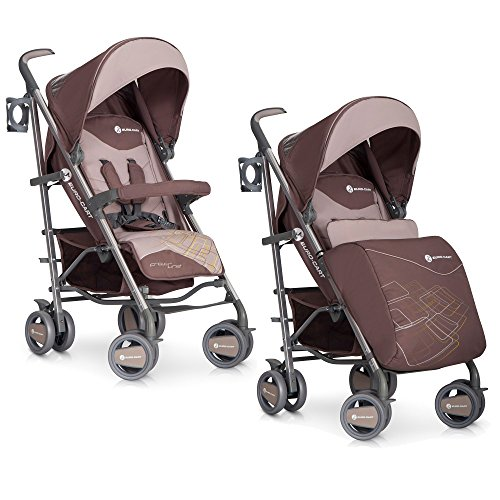 Baby Stroller Pram Crossline High Class Aluminium Pushchair - foldable, Colour Cafe Latte