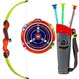 Archery Bow Arrow Toy Set - Target LED Flashing Lights Sounds - St