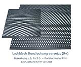 Edelstahl Lochblech 1,5 mm stark Rundlochung Ø 3 mm versetzt RV 3-5 (A4 - AISI 316, 300x300mm²)