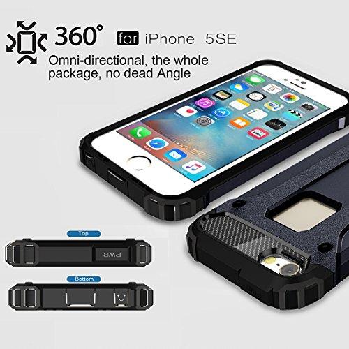 FBA-iPhone 8 Plus, 7 Plus Tough X-Armour Case - Gold Dark Blue